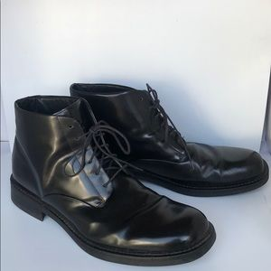 Kenneth Cole NY black leather boots 15